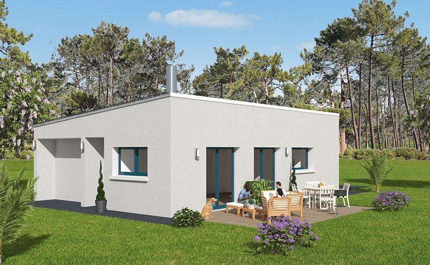 Maison design plain pied monopente - Maison plain pied toit monopente ...