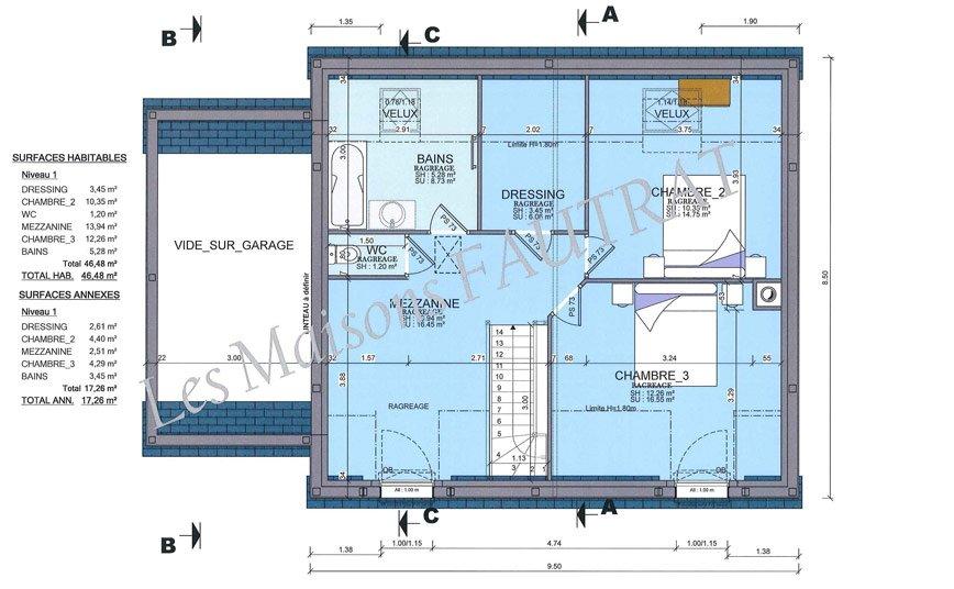 Maison Etage Plan. Maison Au Maroc 2 Etage Plan De 12 Pices Et 98 M2