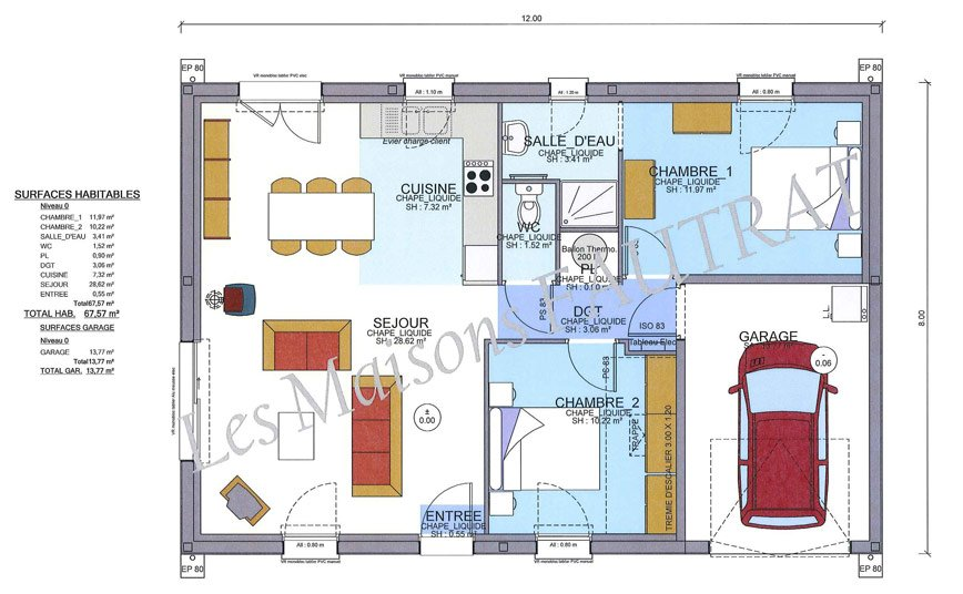 plan maison plainpied