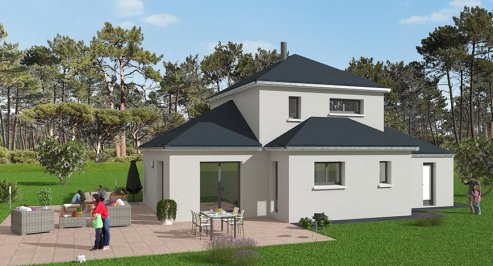 Construction 3 chambres à Saint-Vaast-la-Hougue 108.57 m²